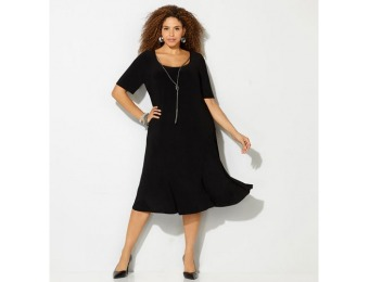 67% off Avenue Plus Size Rope Necklace Flare Dress