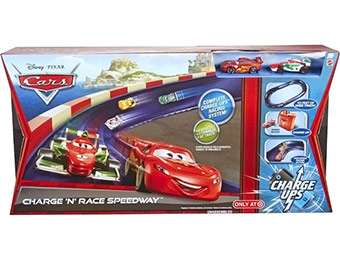50% off Disney Pixar Cars 2 Charge 'N' Race Speedway Track Set