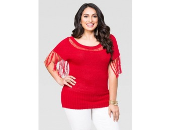 71% off Ashley Stewart Fringe Dolman Sweater