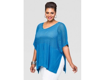 62% off Ashley Stewart Open Knit Poncho Sweater