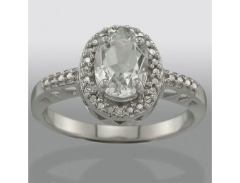 92% off White Topaz and Diamond Accent Ring