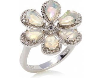 83% off Colleen Lopez Opal & White Topaz Sterling Silver Ring