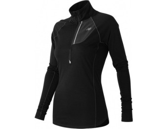 75% off New Balance WT53209BK Women's Performance Merino Half Zip