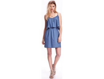 79% off Old Navy Chambray Overlay Dress