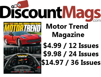 92% off Motor Trend Magazine Annual Subscription, $5 / 12 Issues