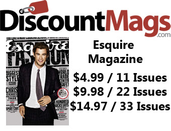 88% off Esquire Magazine Annual Subscription, $5 / 11 Issues