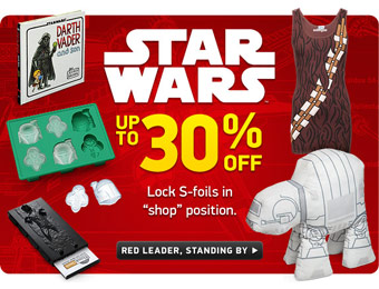 Up to 30% off Star Wars Merchandise at ThinkGeek.com