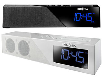 40% off Insignia Bluetooth Alarm Clock Radio (white or black)