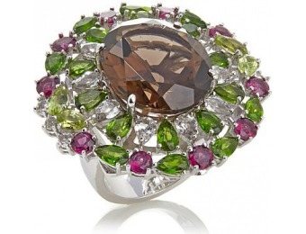 90% off Colleen Lopez 23.27ctw Sterling Silver Ring