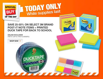 Up to 50% off 3M Post-It Notes & Back to School Items