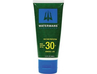 93% off Watermans SPF 30 Mineral Lotion, 1.5oz.