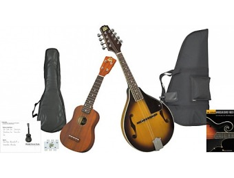 65% off Rogue Mandolin And Ukulele Travel Pack Sunburst