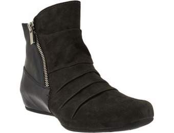 67% off Earthies Leather & Suede Hidden Wedge Ankle Boots - Pino