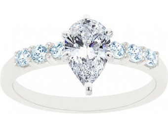 $6,336 off 14K White Gold Seven Stone Certified Diamond Ring