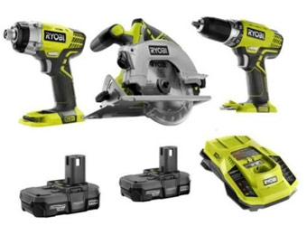 $30 off Ryobi ONE+ 18-Volt Lithium-Ion Combo Kit (3-Tool)