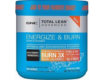 75% off GNC Total Lean Advanced Energize & Burn