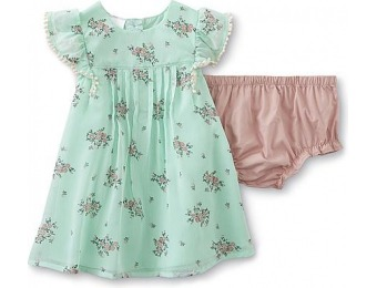 93% off Newborn & Infant Girl's Pleated Dress & Diaper Cover