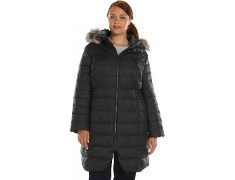80% off Plus Size Apt. 9 Curved Hem Hooded Puffer Jacket