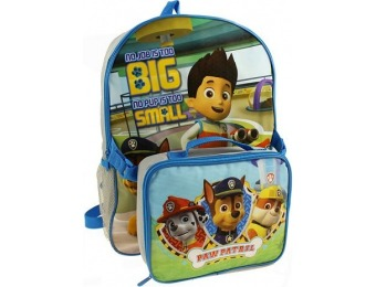 70% off Kids Paw Patrol Ryder & Chase Backpack & Lunch Box