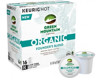 38% off Keurig Green Mountain Organic Founder's Blend K-Cups