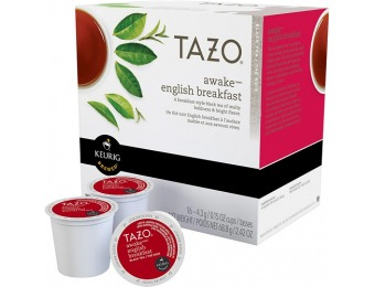 38% off Keurig Starbucks Tazo Awake Black Tea K-Cups (16-Pack)