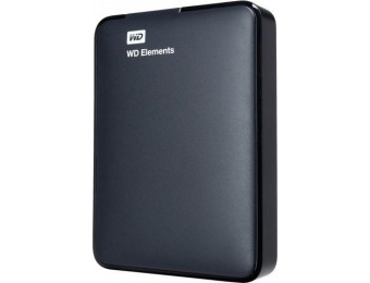 $55 off WD 2TB Elements Portable USB 3.0 Hard Drive