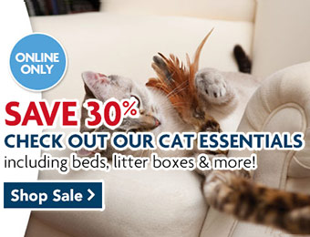 30% off Cat Essentials - Cat beds, litterboxes, and more