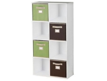 27% off Martha Stewart Living 8-Cube Organizer w/ 4 Fabric Bins