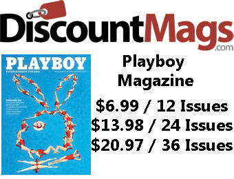 90% off Playboy Magazine Annual Subscription, $6.99 / 12 Issues