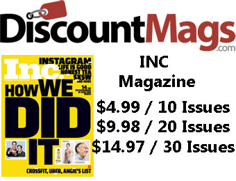 92% off INC Magazine Annual Subscription, $4.99 / 10 Issues