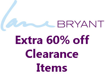 Extra 60% off Clearance Items at Lane Bryant w/code: EXTRA60LB