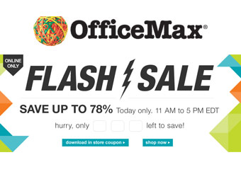 OfficeMax Flash Sale: Up to 78% off Select Items (Today Only 11-5 EDT)