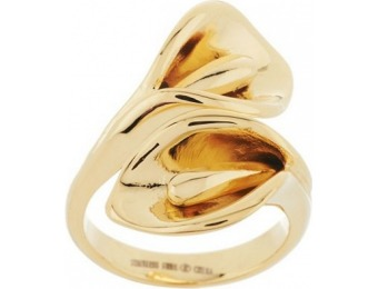66% off Stainless Steel Calla Lily Wrap Design Ring