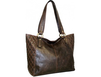 68% off Nino Bossi Macarena Tote Chocolate Leather Handbag