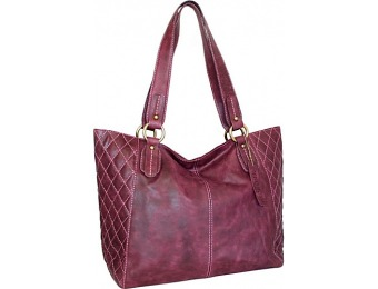 68% off Nino Bossi Macarena Tote Plum Leather Handbag