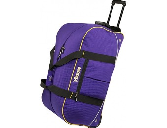 "65% off Athalon Minnesota Vikings NFL 24"" Wheeling Duffel Bag"