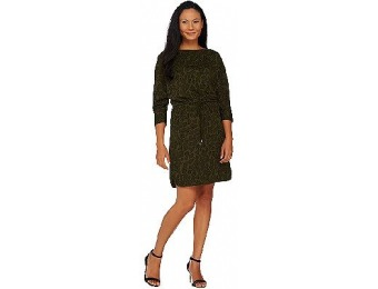 67% off H by Halston Printed Dolman Sleeve Knit Dress