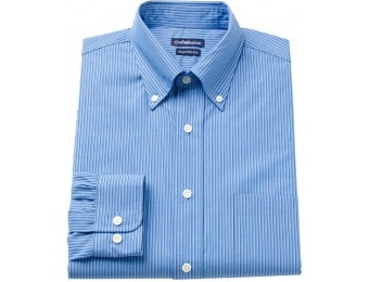 70% off Men's Croft & Barrow Fitted Striped Button-Down Shirt