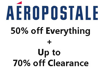 50% off Everything + Up to 70% off Clearance