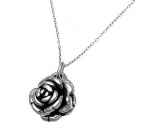 92% off Sterling Silver Rose Pendant