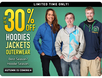 Up to 30% off Hoodies, Jackets & Outwear at ThinkGeek.com