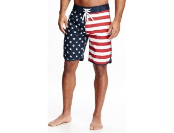 70% off Old Navy American Flag Board Shorts For Men