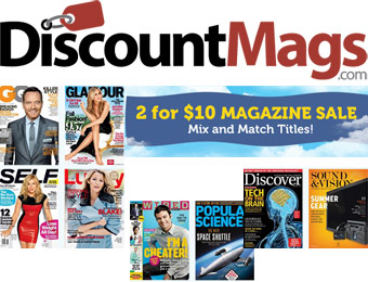 2 for $10 Magazine Subscription Sale, 50+ Titles to Choose From