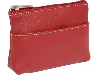 65% off Piel Key/Coin Case - Red