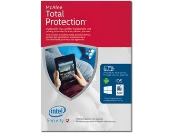 78% off McAfee Total Protection 2016 - ( 1 year )
