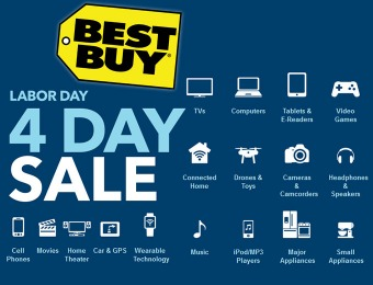 Best Buy Labor Day 4 Day Sale - Save on HDTVs, Laptops, Phones & More!