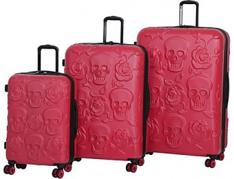 $170 off It luggage Skull Emboss 3 Piece Spinner Luggage Set