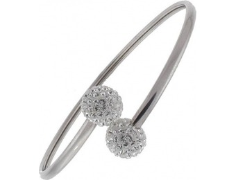 92% off Sterling N Ice Sterling Silver ByPass Ball Bangle