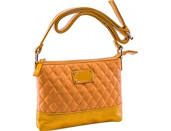 63% off Parinda Cara Mustard Tan Handbag