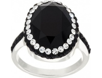 60% off Sterling Silver Crystal Oval Ring by Silver Style